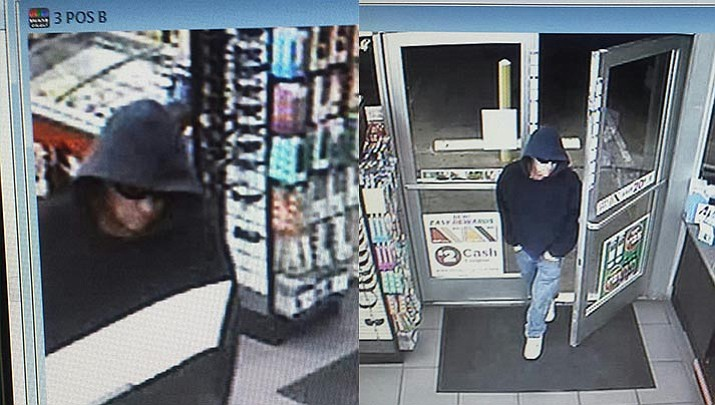 Security photos showing a Village of Oak Creek robbery suspect have just been released (Photo Courtesy of YCSO)