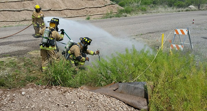 The Verde Valley Fire District has teamed with UniSource Energy Services to train for natural gas related emergencies.  Photo courtesy VVFD