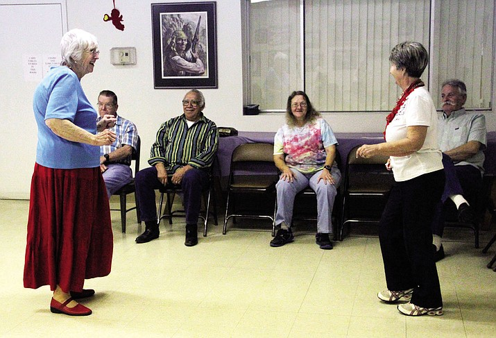 There's plenty of dancing at the Kathryn Heidenreich Adult Center. Shown in 2014 (front left), Marvel Chavez and (front right) Erika Reicherter dance as (back row, left to right) Art Bailie, Frank Chavez, Janae Bailie (Art's daughter) and Fred Reicherter watch.