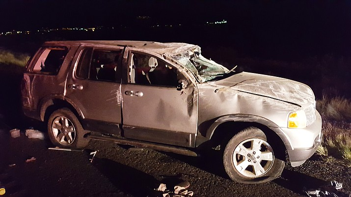 One person was injured in this accident on SR89A. Photo Courtesy of VVFD)