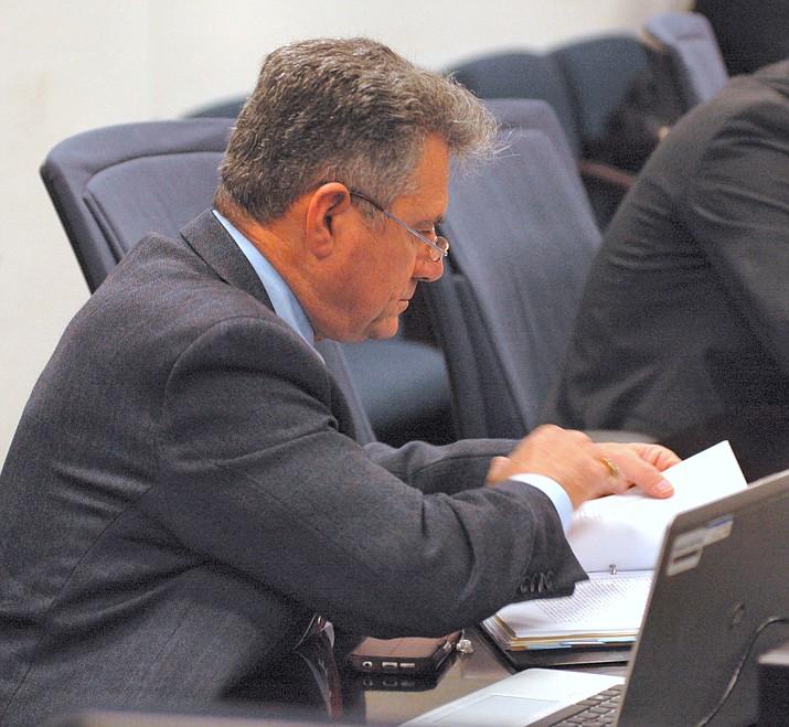 Sen. Sonny Borrelli reviews details of the proposed $9.8 billion spending plan ahead of floor debate Thursday.