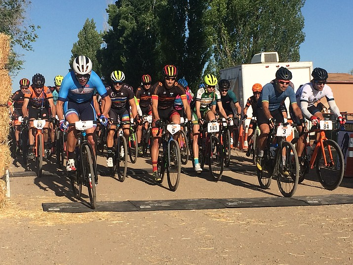 Riders in the Chino Valley Grinder 108 mile, 54 mile and Relay courses began their races at 7:30 a.m. on Saturday, May 6. Ted King won overall male in the 108 mile course five hours, 51 minutes and 15 seconds later.