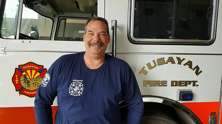 Firefighter and emergency medical technician Ray D'Albini recently joined the Tusayan Fire Department as assistant fire chief.