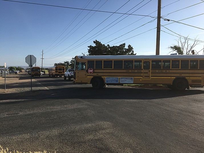 Intersection near Del Rio Elementry School needing expansion for school traffic. (Ken Sain/Review)
