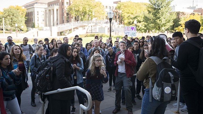 Speaker at a rally against hate speech on the University of Minnesota campus in October.