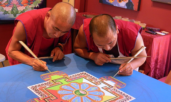 Mandalas appear in spiritual traditions around the globe butMandalas formed from sand are unique to Tibetan Buddhism.