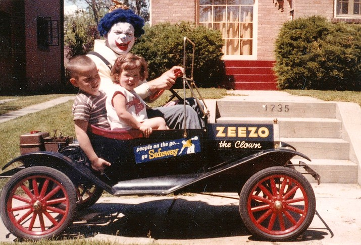 Zeezo the clown with his children when they were young.