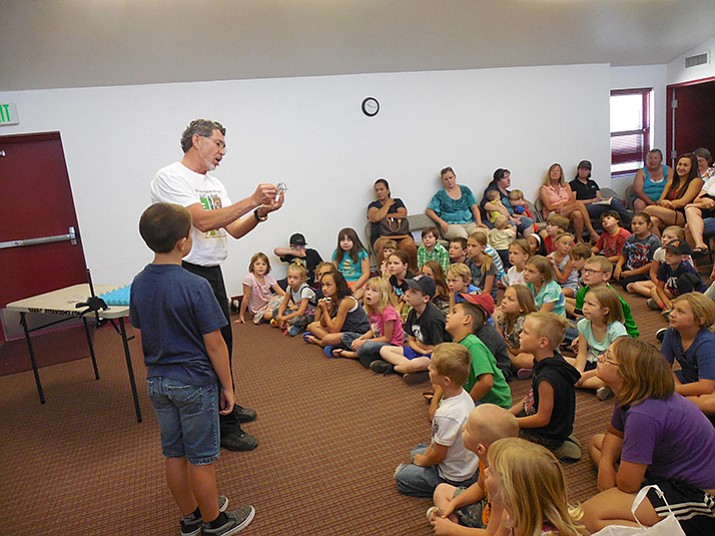 The Chino Valley Library does a summer reading program, bringing in entertainment to encourage reading. (Courtesy Photo)