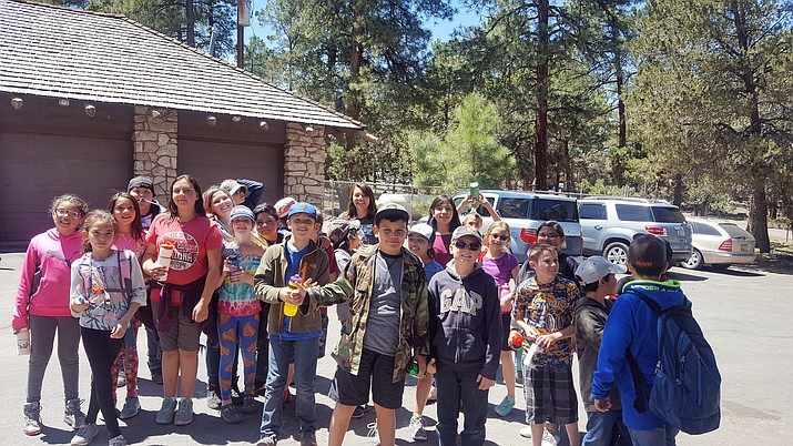 Grand Canyon fifth graders picked up trash and camped out at Mather Campgrounds.
