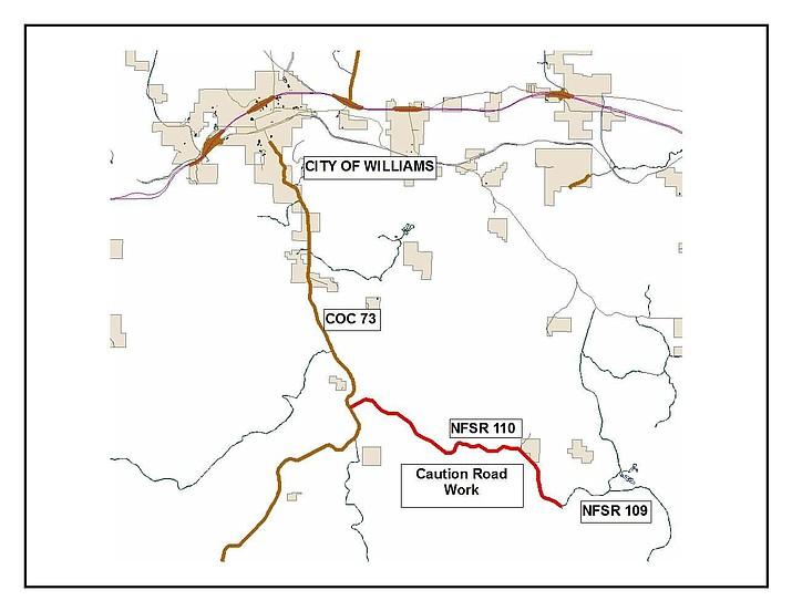 In order to meet Forest Service standards, Forest Road 110 will undergo repairs starting May.