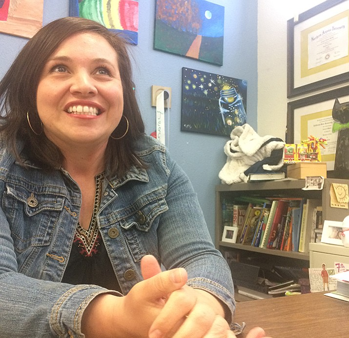 Glassford Hill Middle School Seventh and Eighth Grade Language Arts Teacher Jessica Marks was chosen as Yavapai County's Teacher of the Year in the Sixth through Eighth Grade Category. (Jason Wheeler/Tribune)