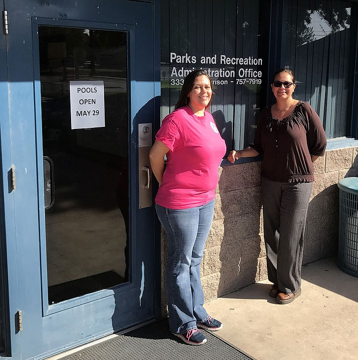 Recreation Coordinator Beth Matthews (left) and Recreation Superintendent Yvonne Cossio will find ways to keep Kingmanites busy this summer.