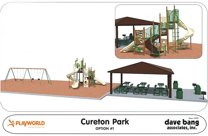 Artists rendition of the proposed new playground at Cureton Park.