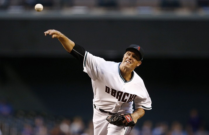 Arizona Diamondbacks' Zack Greinke throws a pitch against the New York Mets during the first inning Tuesday, May 16, 2017, in Phoenix. (Ross D. Franklin/AP)