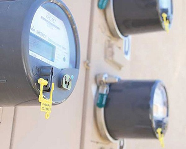 Electric meters on Bank Street that are monitored by UniSource.