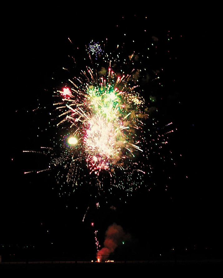 Fireworks light up the sky from the 2016 show at Mohave County Fairgrounds.