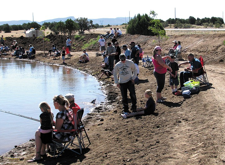 The crowd at a previous Fishing for Smiles event at Dunton Fort Rock Ranch.
