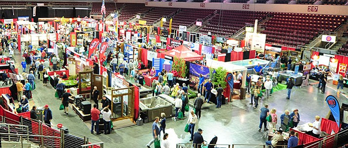 The 39th annual YCCA Spring Home and Garden Show opened Friday at the Prescott Valley Event Center with 210 exhbitors. The show runs through Sunday afternoon; 9 a.m. to 5 p.m. on Saturday and 9 a.m. to 3 p.m. on Sunday. (Les Stukenberg/Courier)