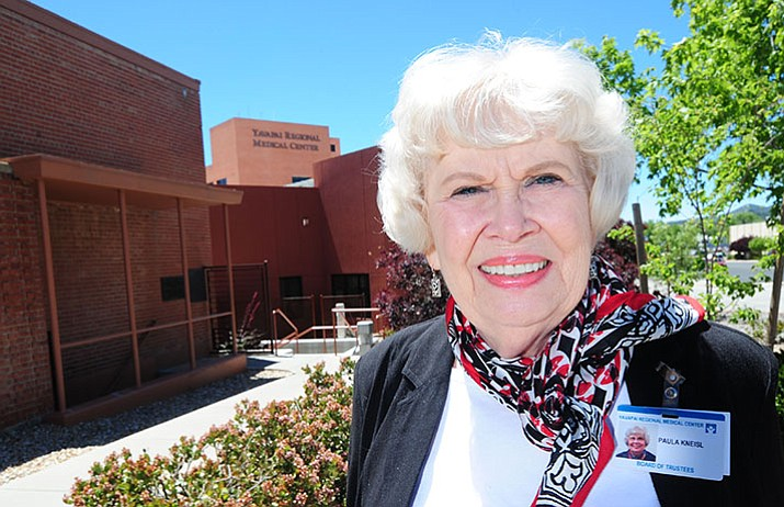 Yavapai Regional Medical Center Board chairperson Paula Kneisl poses for a photo outside the hospital's Prescott campus Friday, May 19. (Les Stukenberg/Courier)