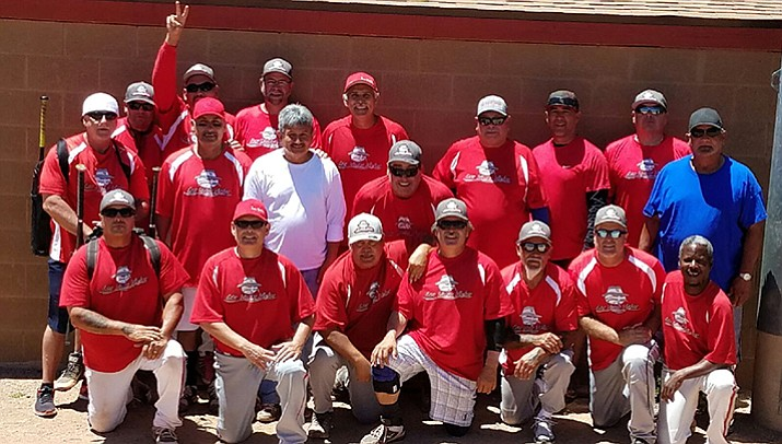 The Los Vatos ran away the 55's bracket title, defeating Thunderstruck 17-5 before squeaking by the AZ Scorpions 12-11 at the Tobin-Glick Memorial Senior Softball Tournament on Sunday, May 21, in Prescott.