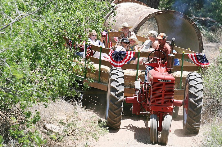 Saturday from 9 a.m. until 3 p.m., Historic downtown McGuireville will host the fourth annual Memorial Day Tractor and Engine Show. (Courtesy photos)