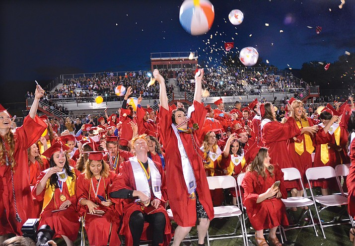 Graduation begins at 7 p.m. Friday on Bright Field at Mingus Union High School. Graduates are to meet in the school's gym at 6 p.m. to line up for the ceremony. Both Mingus parking lots are available, but they are expected to fill up by 6 p.m. Overflow parking is available in the Mingus lot across Camino Real from the east lot, at Fry's and at the Faith Lutheran Church just east of the school.  VVN File Photo