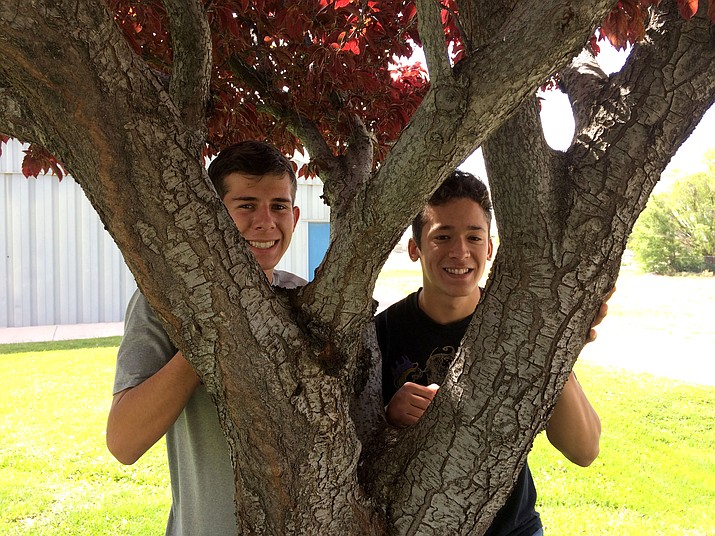 Chino Valley High Class of 2017 valedictorian Alex Daniels, left, and salutatorian Christian Herb will step into the world as high school graduates after tonight's ceremonies at the Prescott Valley Event Center.