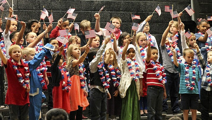 Williams elementary sees red, white and blue at end of year performance