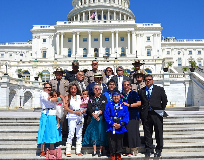 Navajo Nation Police Officer Leander Frank was one of the 118 officers recognized during the National Peace Officers' Memorial Service in Washington, D.C. May 15. Submitted photo