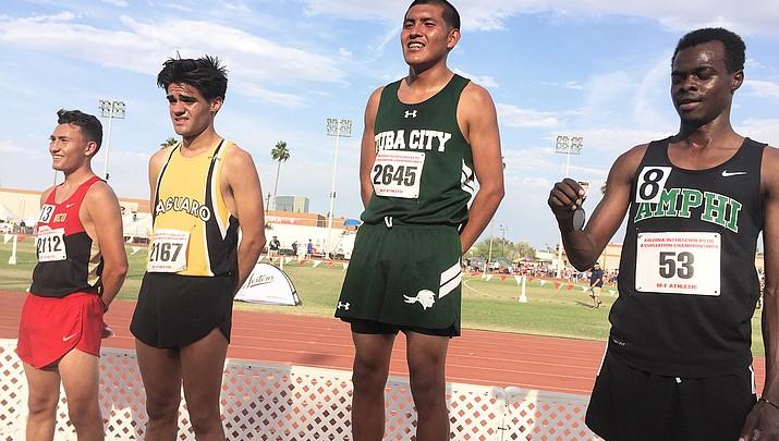 Tuba City High's Vaughn Jackson wins State Championship Div. III 1,600 meter run
