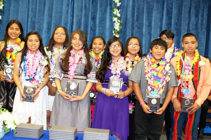 The top students from Hopi Junior High were honored at the May 17 promotion ceremony. Stan Bindell/NHO