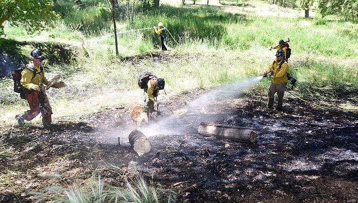 Brush fire in Monument Park