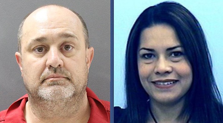 At left, David Pagniano, 55, of Prescott, faces one count of second-degree murder of his wife, Sandra Pagniano, 39.