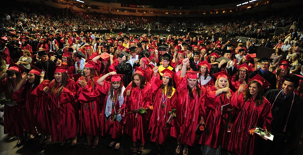 The Bradshaw Mountain Class of 2017 held their Commencement at the Prescott Valley Event Center  Thursday, May 25. The class had 346 students that earned over $5 million in scholarships and had numerous enlistees in the military service. (Les Stukenberg/Courier)