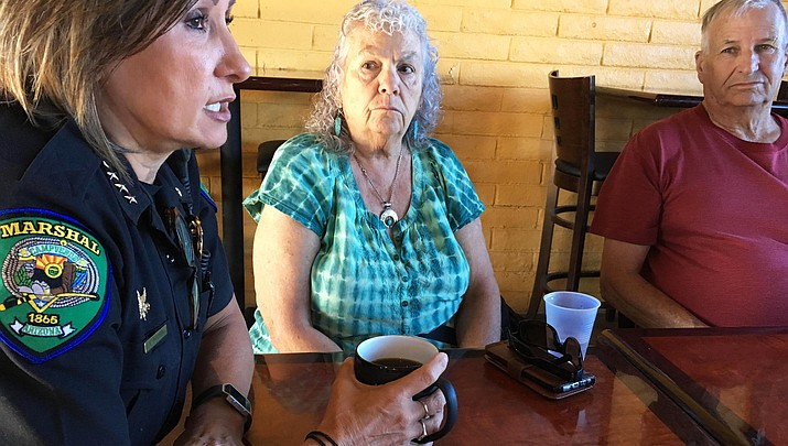 Camp Verde marshal talks budget, new commander at 'Coffee with a Cop'