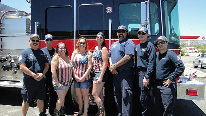 Members of the Mayer Fire Department and Malin Medical pose for a photo during its inaugural open house and customer appreciation event in spring valley May 20. (Pat Williamson/Courtesy)