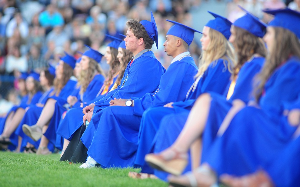 The 345 members of the Prescott High School Class of 2017 held their Commencement on Bill Shepherd Field Friday, May 26. (Les Stukenberg/Courier)