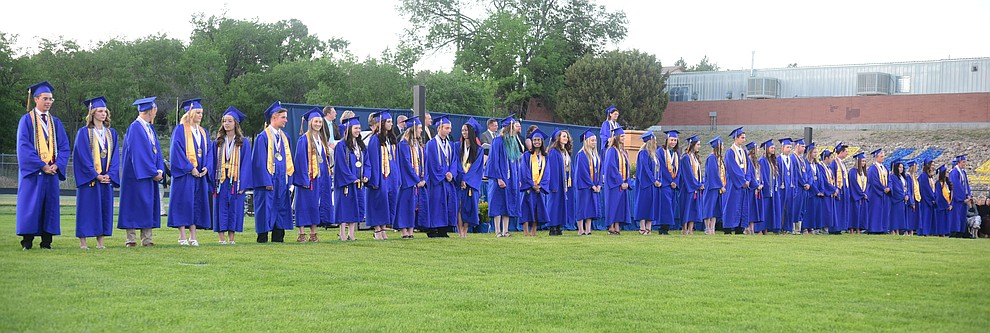 Graduates with Distinction, 38 in all, as the 345 members of the Prescott High School Class of 2017 held their Commencement on Bill Shepherd Field Friday, May 26. (Les Stukenberg/Courier)