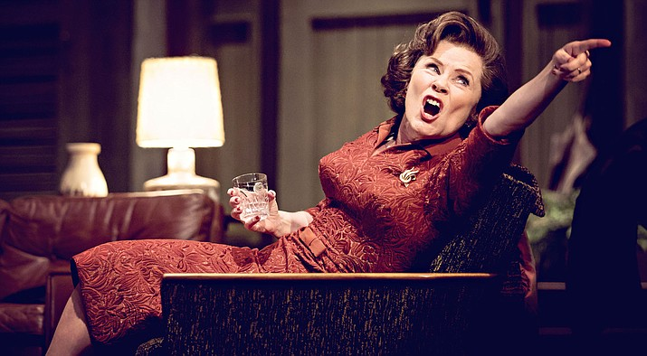 "Imelda Staunton, Conleth Hill, Luke Treadaway and Imogen Poots star in James Macdonald's critically acclaimed, 5-star production of Edward Albee's landmark play, ""Who's Afraid of Virginia Woolf?"", broadcast live to cinemas from the Harold Pinter Theatre, London."