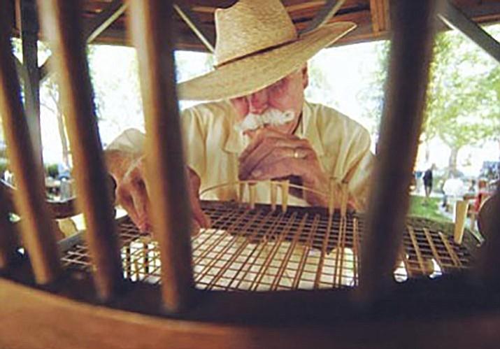 Dennis O'Reilly, Furniture Caner Extraordinaire. (Courier photo)