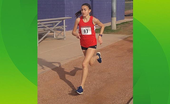 Cottonwood's Allyson Arrellano won three titles at the USATF Arizona State Championships last weekend. The recent Mingus Union graduate has won 20 USATF Arizona track and field championships. (Photo Courtesy of Micah Swenson)