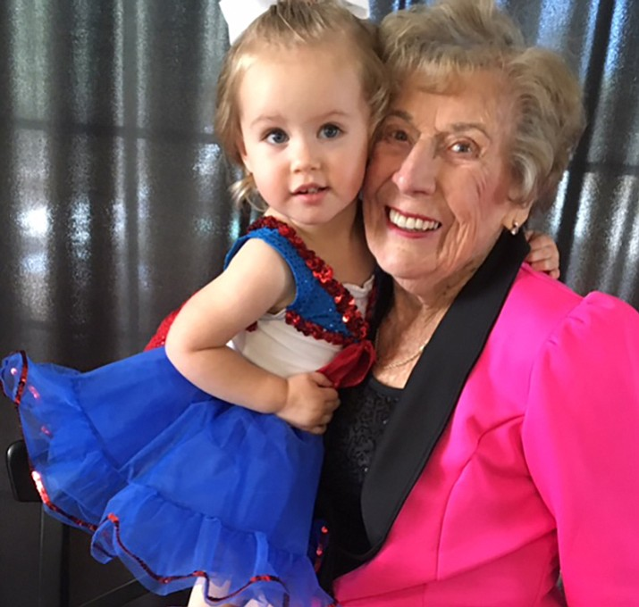 """Summer's DanceWorks youngest student is Kensyn Creegan, 2; the most """"chronologically enhanced"""" dancer is Sue Chambers, 94. (Courtesy Photo)"""