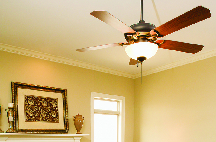 Ceiling fans help to circulate air throughout a home and create an effective draft.