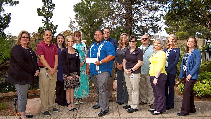 From left to right: KUSD Nutrition Services Administrative Assistant Tonya Green, KRMC HR employees Aaron Boyd, Terrie Naylor, Anita Harger, Valerie Fennell, KUSD Food Service Director Alex Mayo, KRMC HR employees Tommy Taylor, Joanna Moline, Angela Githens, Rob Rennells, Stefani Neary, Kimberly Alexander and Melissa Summerson