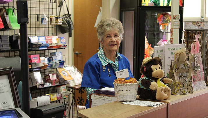 Dee Gusman, a volunteer at the KRMC gift shop, has been at KRMC for 7 years.