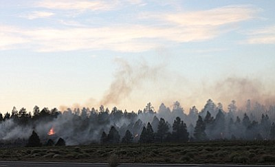 Fire agencies will continue prescribed burns at both the North Rim and South Rim throughout the week.