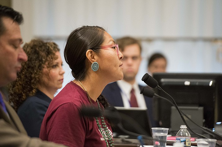 Kendra Pinto, of the Navajo Nation in northern New Mexico, told House members she feels safer because of restrictions on federally owned land near her home.