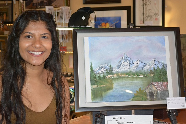 Williams Alliance for the Arts (WAFTA) received grant money from the Great Williams Community Fund in 2016. In this photo Napur Patel displays her artwork during National Youth Art Month which WAFTA sponsored.