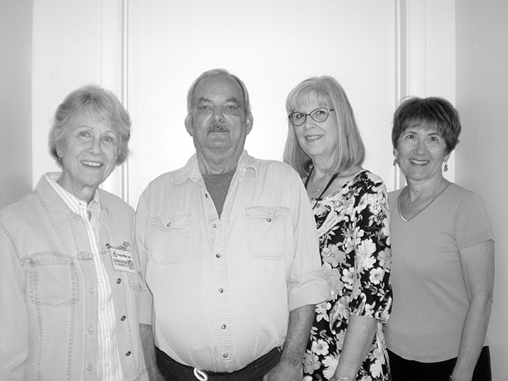 Stroke survivor Gerry Kemp, second from left, with support group experts, from left, Marianne Simpson, Gayla Allen and Mara Protas. (Courtesy)