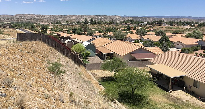 "According to a report by Homesnap Real Estate, Camp Verde's real estate market has slowed the past 30 days, as ""sales fell 5.6 percent, to 17 homes sold over the last 30 days."" Pictured, Camp Verde housing community known as The Cliffs. (Photo by Bill Helm)"